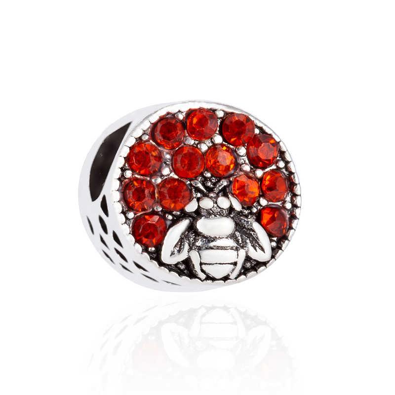 מקסי צבעוני תכשיטי דבורה כוכב מפת פרחים אהבת לבבות אמייל חרוזים קסמי Fit פנדורה צמידי לנשים בעבודת יד Pulsera מתנה
