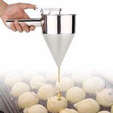 Диспенсер для мяча из нержавеющей стали для блинов, дозатор для теста для кексов, воронка, бытовая машина для блинов Takoyaki, инструмент для крема для блинов