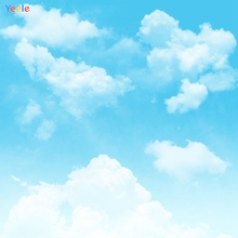 Yeele Blue Sky White Cloud Scene Baby Girl Photography Backgrounds Personalize Photographic Backdrops Photocall For Photo Studio