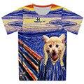 2016 del verano del nuevo t shirt 3D Animal gato Sexy Girl iglesia perro galaxia del espacio de impresión camisetas hombres mujeres harajuku camiseta camisetas casuales