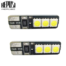 цена на 2pcs/lot No Error T10 LED 194 168 W5W Canbus 6 SMD 5050 LED Car Interior Bulbs Light Parking Width Lamps