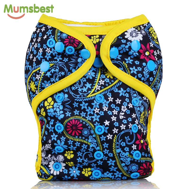 [Mumsbest] New Design Baby Cloth Diaper Cover PUL Waterproof Baby Washable Diapers Reusable Pocket Cloth Nappies 1PC [mumsbest] 3pcs washable waterproof baby nappy pul suit 3 15kgs adjustable boy diaper covers car print design cloth diaper cover