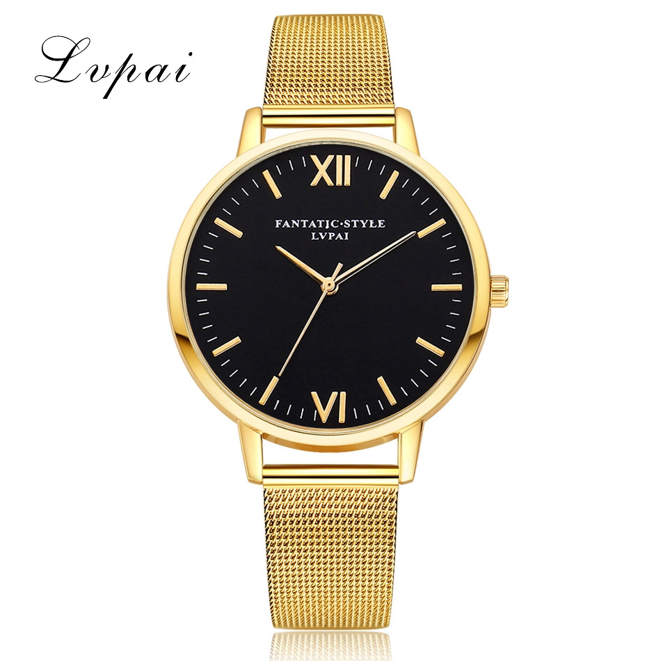 2018 Classic Women's Men's Wrist Watch LVPAI Watches Women Quartz Wristwatch Clock Ladies Dress Gift Femme Reloj Mujer F80