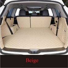 Custom Cargo Liner For Hyundai Santa Fe 2013 Car Floor Trunk Carpet Rugs Mats Waterproof Automobile Accessories Car-styling