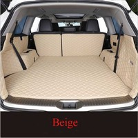 For ford ecosport 2019 Custom leather Car Trunk Mats Car Cargo Rear Boot Liner Trunk Mat Carpet styling|  -