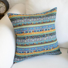 Pillowcase National Print Throw Cushion Cover Square Waist Pillow Case Sofa Chair Bedroom Car Home Office Decorative Cojines Hot miracille marine style mermaid painting pattern coffee house chair waist decorative cushion cover bedroom throw pillowcase 18