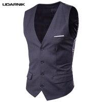 Mens Slim Fit Business Gilet Vest V Neck Sleeveless Jacket Formal Wedding Waistcoat Top Solid 5 Colors 903 A662