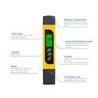 TDS прибор для измерения радиочастотного диапазона качества воды 0-9999ppm для тестирования твердости Чистота воды QJ888