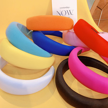 INS Style. Sponge Thickening Queens Hair Hoop, Female Ornament, Euro-American Candy Color Temperament