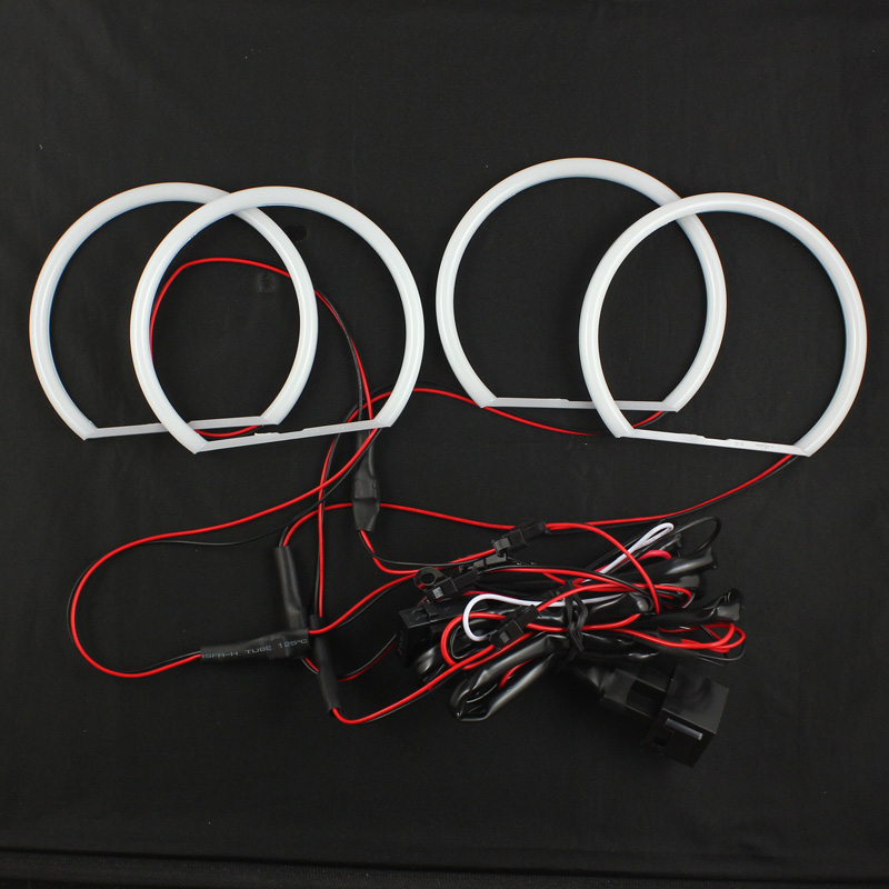 Cotton Car SMD LED angel eyes for BMW E38 E36 E39 E46 projector SMD LED DRL headlight halo rings kit 4*131mm LED SMD angel eyes car styling 131mm 4 led cob angel eyes halo rings kit for bmw e46 e39 e38 e36 3 5 7 series daytime runing lights drl retrofit