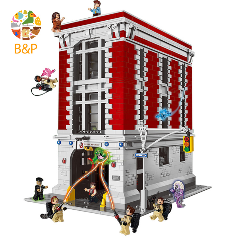 lepin Legoing 16001 4705Pcs Ghostbusters Firehouse Headquarters brinquedos Model set Building Kits Model Compatible 75827 цены