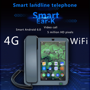 LTE 4G Fixed Wireless landline Android 6.0 with 4G SIM network videophone glob universal elderly WIFI video mobile phone