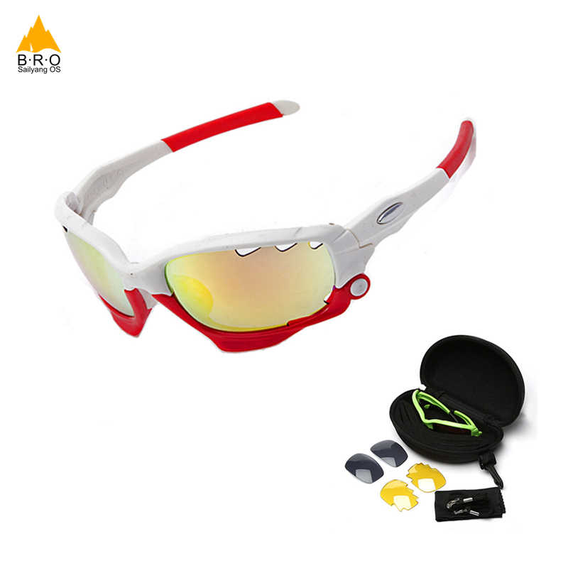 18e7f5c747 Gafas de ciclismo bicicleta de montaña gafas 3 lente UV400 gafas de  ciclismo gafas de sol
