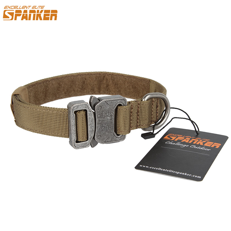 EXCELLENT ELITE SPANKER 1 Tactical Dog Collar Outdoor pet collar Training Adjustable Durable Nylon Quick Released Metal Buckle