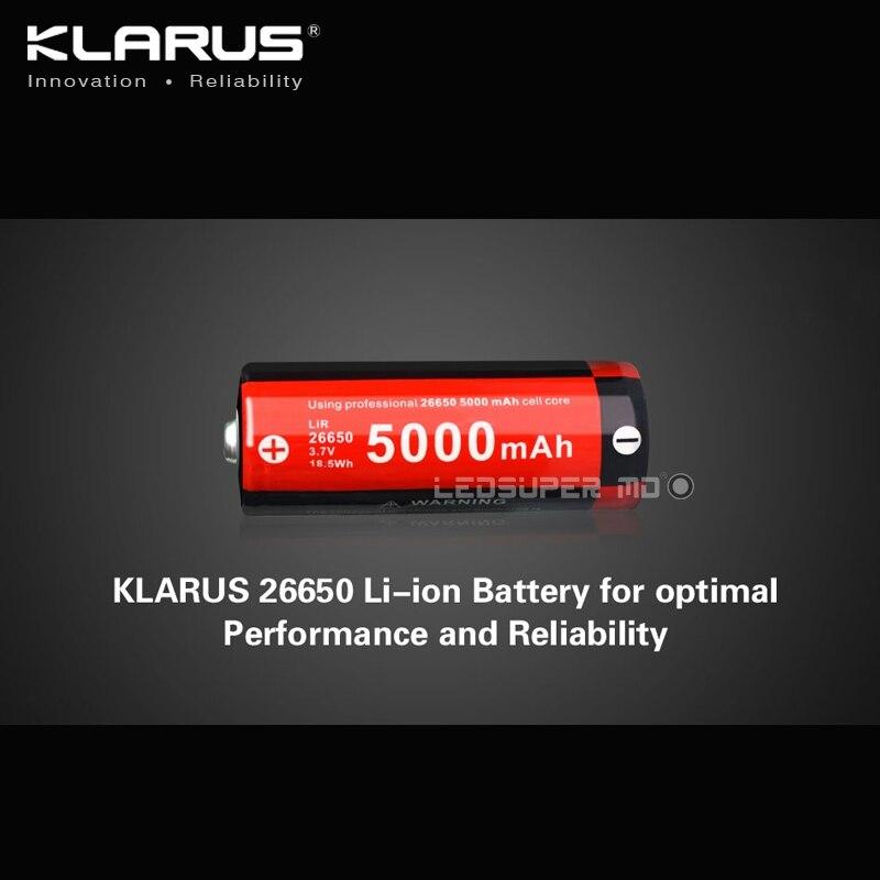 Tragbare Beleuchtung Zubehör Tragbare Beleuchtung Zubehör Klarus Wiederaufladbare Li-ion 3,7 V 5000 Mah 26650 Batterie Für Optimale Leistung Und Zuverlässigkeit Wohltuend FüR Das Sperma