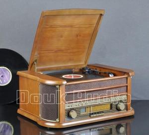 Image 2 - Nobsound Hi end Stereo Turntable LP Vinyl Record Player Tape&CD&U disk&AM/FM Radio&AUX&USB Audio 220V