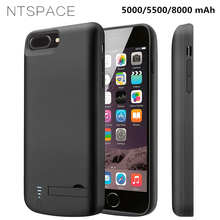 NTSPACE For iPhone X Xs Battery Charger Cases 7 8 6 6S Power Case Bank 6s Plus