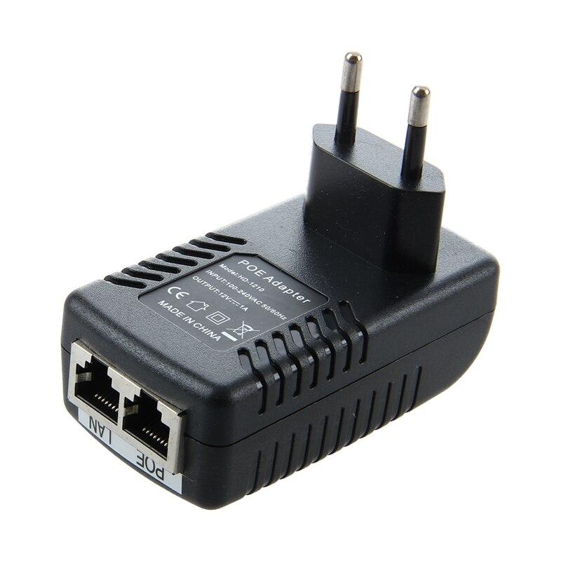 EU12V1A POE Ethernet Network Adapter Connector Injector LAN 10/100Mbps