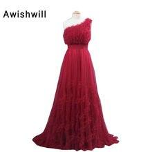 Abendkleider lang Elegant One Shoulder Sleeveless A-line Floor Length Women Formal Dress Evening Gowns Long Cusotm Size