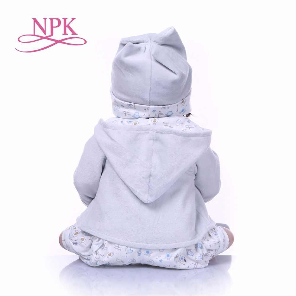 """NPK, Новое поступление, кукла-реборн для маленьких мальчиков, игрушка, полный силикон, винил, 22 """"см, настоящая жизнь, Bebes, гиперреалистичный, кукла, горячие игрушки для детей, медведь"""