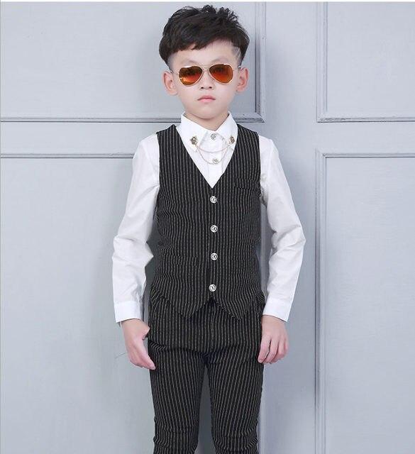Online Shop Kid Baby Boy Blazers Jacket Suit Formal Clothing ...