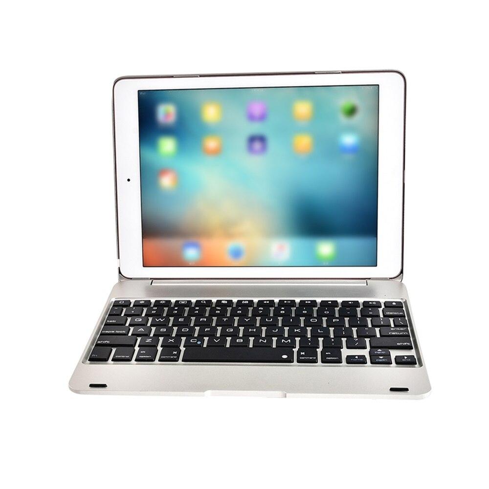 F19B Smart Keyboard Case Flip Cover Wireless BT Keyboard Case for iPad Air 1 2 5 6 Pro 9.7 Office Supplies