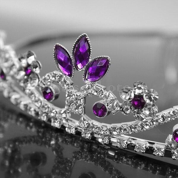 Purple Crystal Rhinestone Wedding Bridal Prom Party Headband Hair Tiara Jewelry In From Accessories On Aliexpress