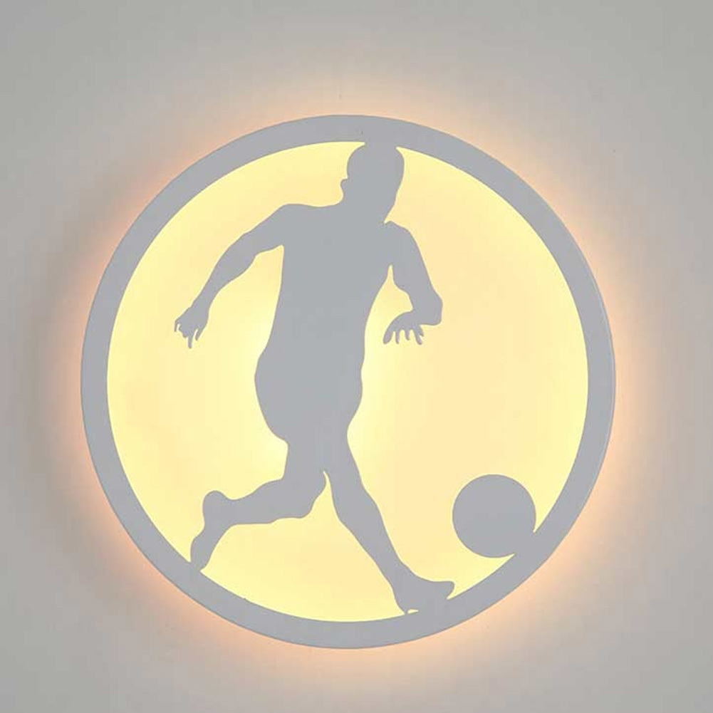Hot Sell Sports Football Wall Lamp Amazing Room Decoration Light hot sell sports series 2014 brazil world cup football 3d wall lamp amazing room decoration light lampada de parede xmas gift