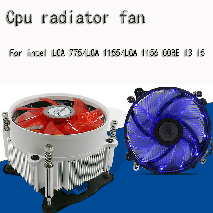 <font><b>Cpu</b></font> radiator <font><b>fan</b></font> led cooling <font><b>fan</b></font> computer desktop <font><b>fan</b></font> 12cm silent For intel LGA <font><b>775</b></font>/LGA 1155/LGA 1156 CORE I3 I5 <font><b>cpu</b></font> <font><b>fan</b></font> image