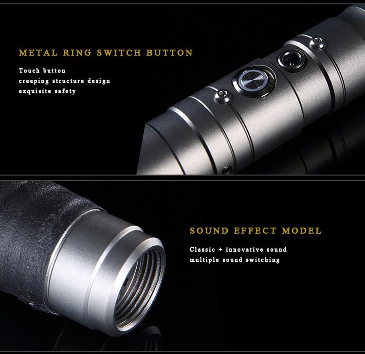 Durable Metal LED Lightsaber with Sound & Vibration 6