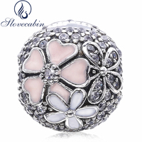Slovecabin 2017 Spring Authentic 925 Sterling Silver Poetic Blooms CZ Clip Beads Fit Original Pandora Charm