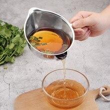 Практичный 304 из нержавеющей стали соевый соус суп жироотделитель чаша многоцелевой резервуар для масла фильтр горшок кухонные инструменты