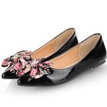 цена Womens Flat Ballet Shoes Bowknot Deco Basic Ballet Pointed Toe Black Red Blue Slip-on Shoes онлайн в 2017 году