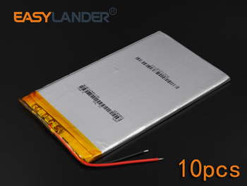10pcs/Lot 3.7V 3350mAh Rechargeable li Polymer Li-ion Battery For Bluetooth Notebook E-Book Power Bank Portable Consumer 3366115