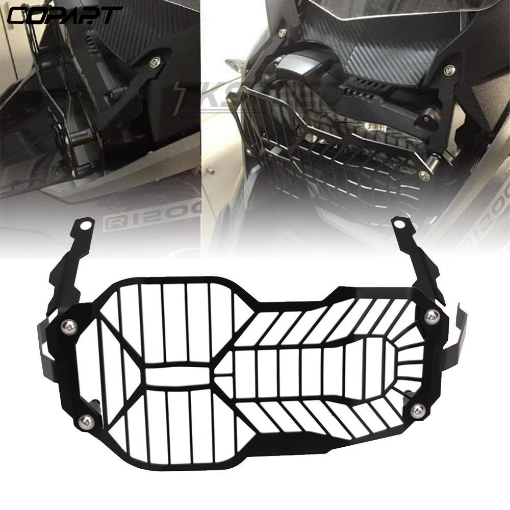CNC Motorcycle Front Headlight Grille Guard Cover Protector For GSA <font><b>BMW</b></font> R1200GS R 1250 <font><b>R1200</b></font> <font><b>GS</b></font> /LC /Adventure ADV <font><b>2004</b></font> - 2019 image