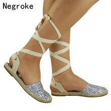 Summer Flats Sandals Women Roma Gladiator Cross Strap Espadrilles Flat Casual Shoes Woman Sandalias Mujer 2019 Dropshipping недорго, оригинальная цена