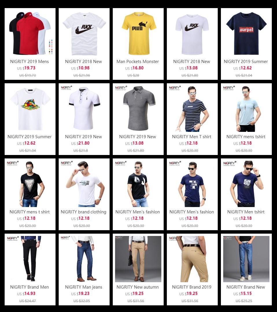 NIGRITY mens t shirt New Casual short sleeve o-neck Inverted triangle printed modal t-shirt men brand tee shirt big size M-4XL 74