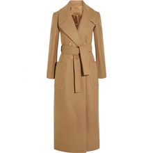 X-Long Wool Peacoats With Belt Autumn Winter 2016 New Slim Elegant Women's Camel Wool Trench Coats 2016 autumn winter coat women(China)
