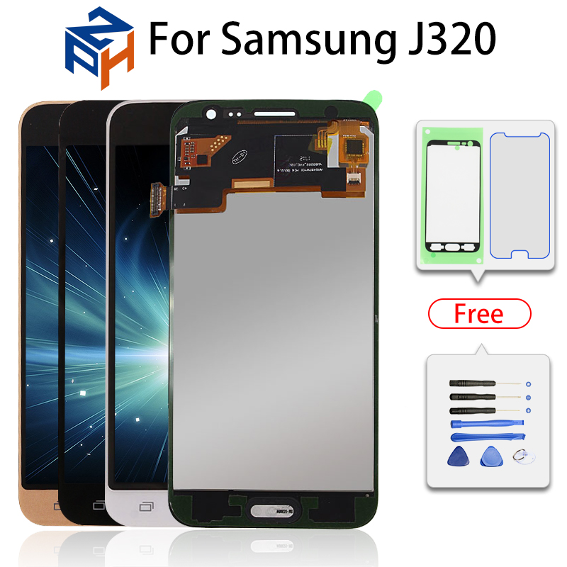 SM-J320F/DS Lcd Display LCD Pantalla Para Samsung Galaxy J3 2016 J320 J320FN J320M/DS Digitador Da Tela de Toque assembléia Substituição
