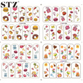 1X Nail Decals Water Transfer Full Tips Children Printing Candy/Drinking/Bread Nail Art Stickers Cute Nails Tools BOP068-071