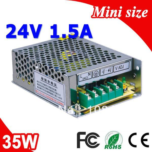 MS-35-24 35W <font><b>24V</b></font> <font><b>1.5A</b></font> LED Switching Power Supply Constant Voltage <font><b>DC</b></font> Output,<font><b>AC</b></font> 110v~260v Input image