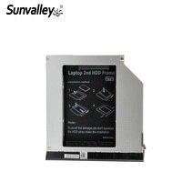 Sunvalley 2nd HDD muhafaza SSD HDD Durumda 9.5mm SATA SATA Dell E6420 E6320 E6520 E6430 E6430s E- serisi HDE6420-SS