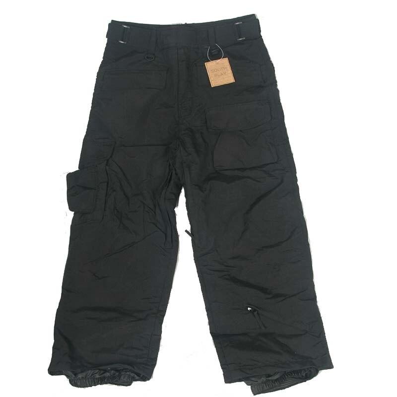 Newest Edition Southplay Winter Waterproof -Skiing- Snowboard Warming Black Pants