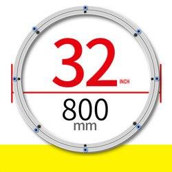 SS H32INCH/80 CM OD Addensare Materiale Tavola Rotonda di Base Ruota In Lega di Alluminio Lazy Susan di Antiscivolo Morbido Punte di gomma