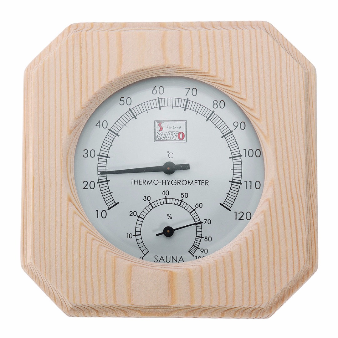 Wood Sauna Thermometer High Quality Hygrothermograph Thermometer Hygrometer Humidity Measurement for Sauna Room