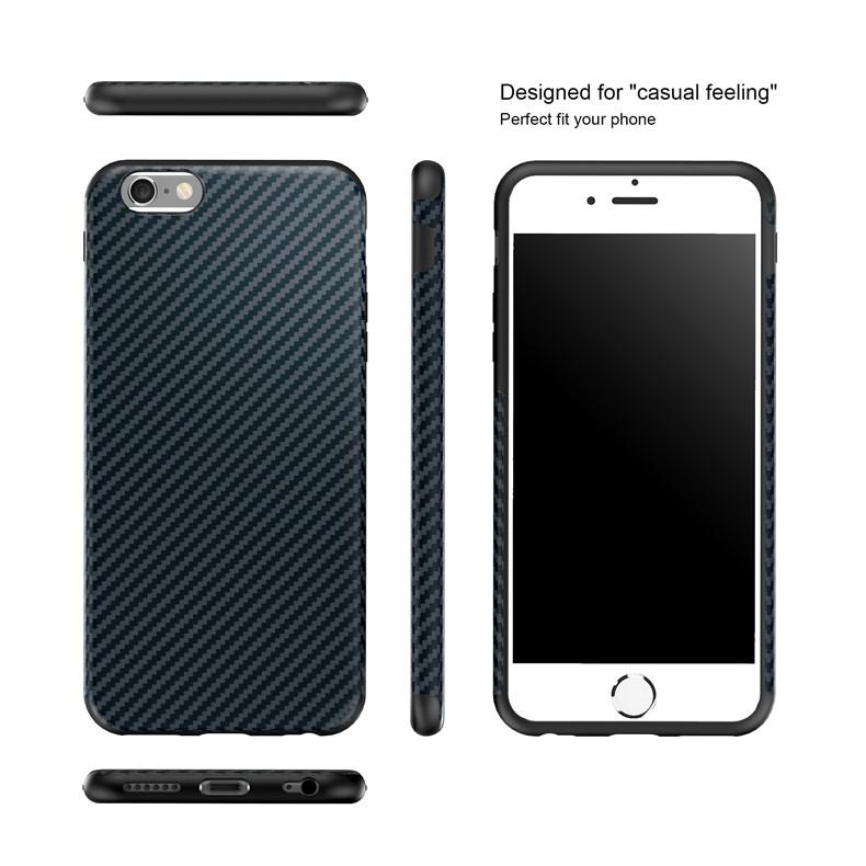Najnowszy środowiska carbon fiber case dla iphone 6 6s plus miękkie antypoślizgowa anti-puk pokrywy dla iphone 7/plus skóra skóra torba 14