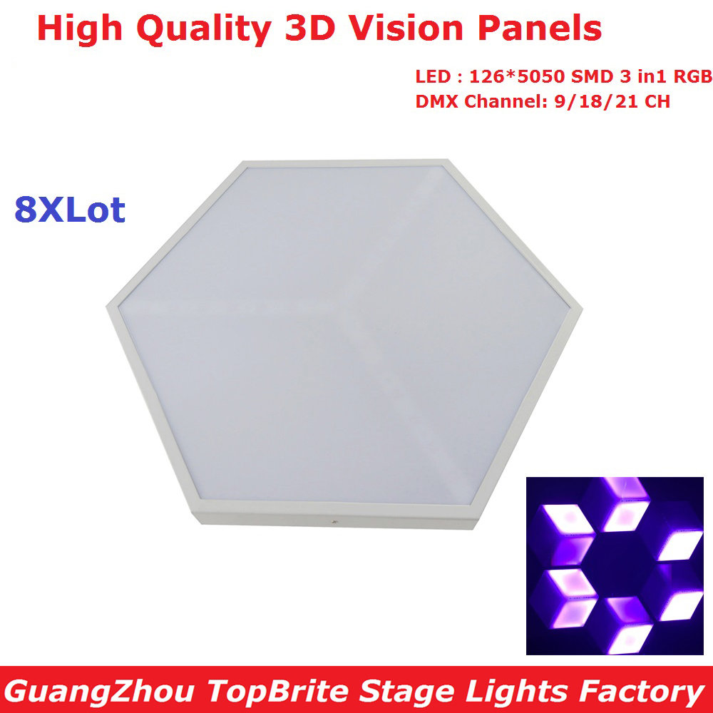 8XLot Factory Price 126*5050 SMD RGB 3IN1 LED Stage Effect Light High Quality 35W 3D Vision Panels For Dj Disco Nightclubs shenzhen direct factory p4 81 led module rgb 250mm 250mm 1 13 scan outdoor smd 3in1 led panel