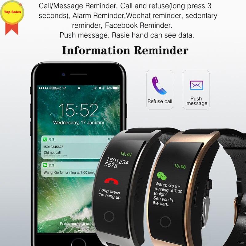 Moniteur intelligent de fréquence cardiaque de tension artérielle de bande intelligente écran couleur de Pulsera reloj bracelet de montre inteligente pour IOS Android xiaomi vivo
