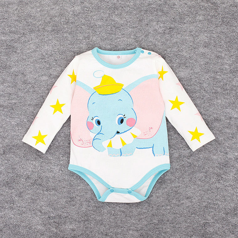 Arrivals Long Sleeve Baby Boy Girl Bodysuits Cute Elephant Bodysuit Infant Clothes Jumpsuits Body - Tina Costume store
