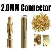 2.0 мм 2 мм 2.0 Золотая Пуля Банан разъем для QAV250 C250 Мультикоптер Двигателя ESC Липо RC Вилки батареи
